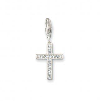 Crystal Set Cross Charm 0049-051-14