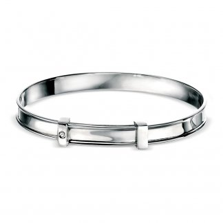 Baby Boy's Plain Silver Bangle B2661