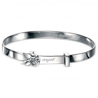 Children's Adjustable Angel Baby Bangle B4072