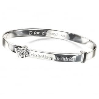 Girl's Believe In Fairies Expandable Bangle