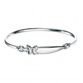 Girl's Butterfly Motif Hinged Bangle B2806