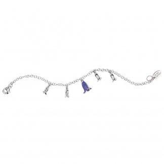 Girl's Enamel Bluebell Silver Bracelet B4501