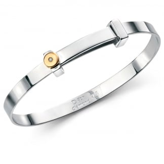 Girl's Gold Plated Detail Boys Bangle