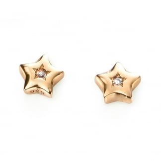 Girl's Gold Plated Star Earrings E5008