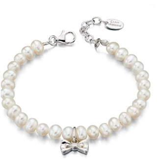 Pearl and Bow Bracelet