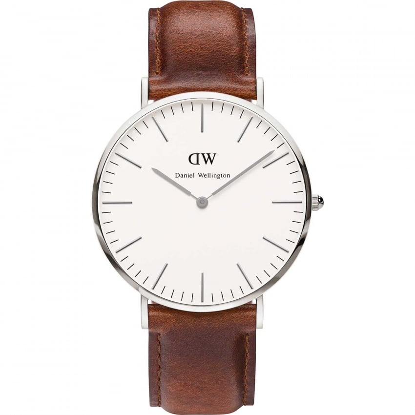 Daniel Wellington Gent's Brown Leather St Mawes 40mm Watch 0207DW