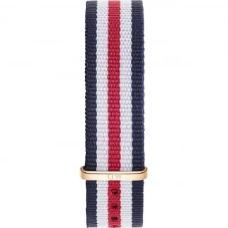 Canterbury 36mm Rose Gold Buckle Nato Strap