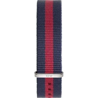 Oxford Silver 36mm Red/Navy Nato Strap