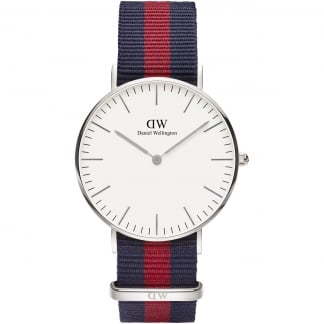 Mid-Sized Silver Oxford 36mm Nato Strap Watch 0601DW