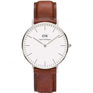 Mid-Sized St Mawes 36mm Tan Leather Watch 0607DW