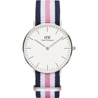 Ladies Southampton 36mm Pink/Blue NATO Strap Watch 0605DW