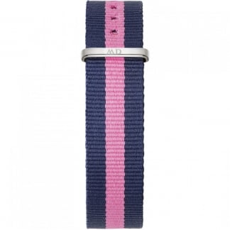 Winchester Silver 36mm Pink/Navy Nato Strap 0804DW