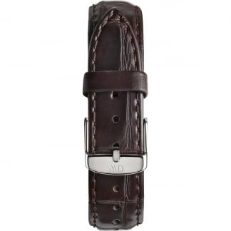 Ladies York 36mm Silver Buckle Croc Leather Strap 0810DW