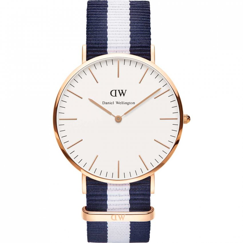 Daniel Wellington Men's Classic Glasgow Rose Gold 40mm Watch 0104DW