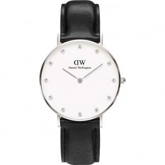 Ladies Classy Sheffield 34mm Black Strap Watch 0961DW