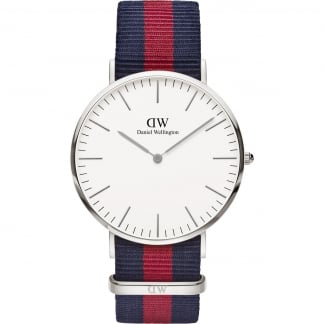 Men's Oxford Silver 40mm Nato Strap Watch