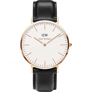 Men's Rose Gold 40mm Classic Sheffield Watch 0107DW
