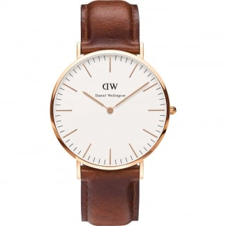 Men's Rose Gold 40mm Classic St Mawes Watch 0106DW