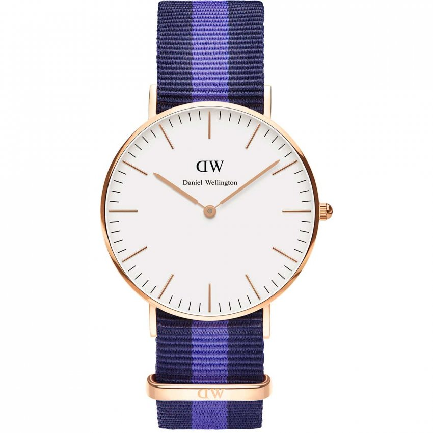 Daniel Wellington Mid-Sized Swansea Rose Gold 36mm Watch 0504DW