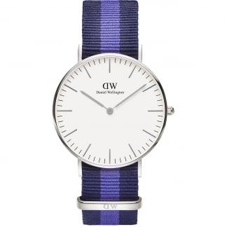 Mid-Sized Swansea Silver 36mm Watch 0603DW