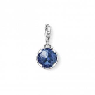 Dark Blue Corundum Charm 1223-037-32
