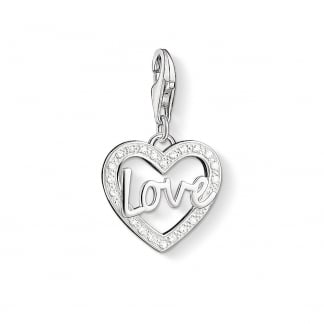 Dazzling Love Heart Charm