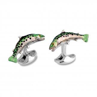 Silver Trout Cufflinks C1620S1322
