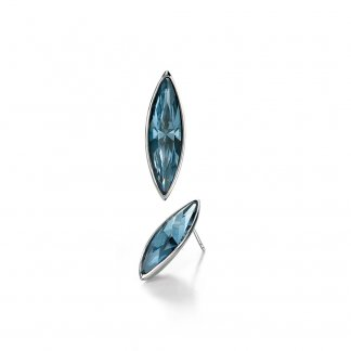 Denim Blue Swarovski Crystal Earrings E4380T