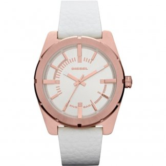Ladies Good Company White Strap Watch DZ5342