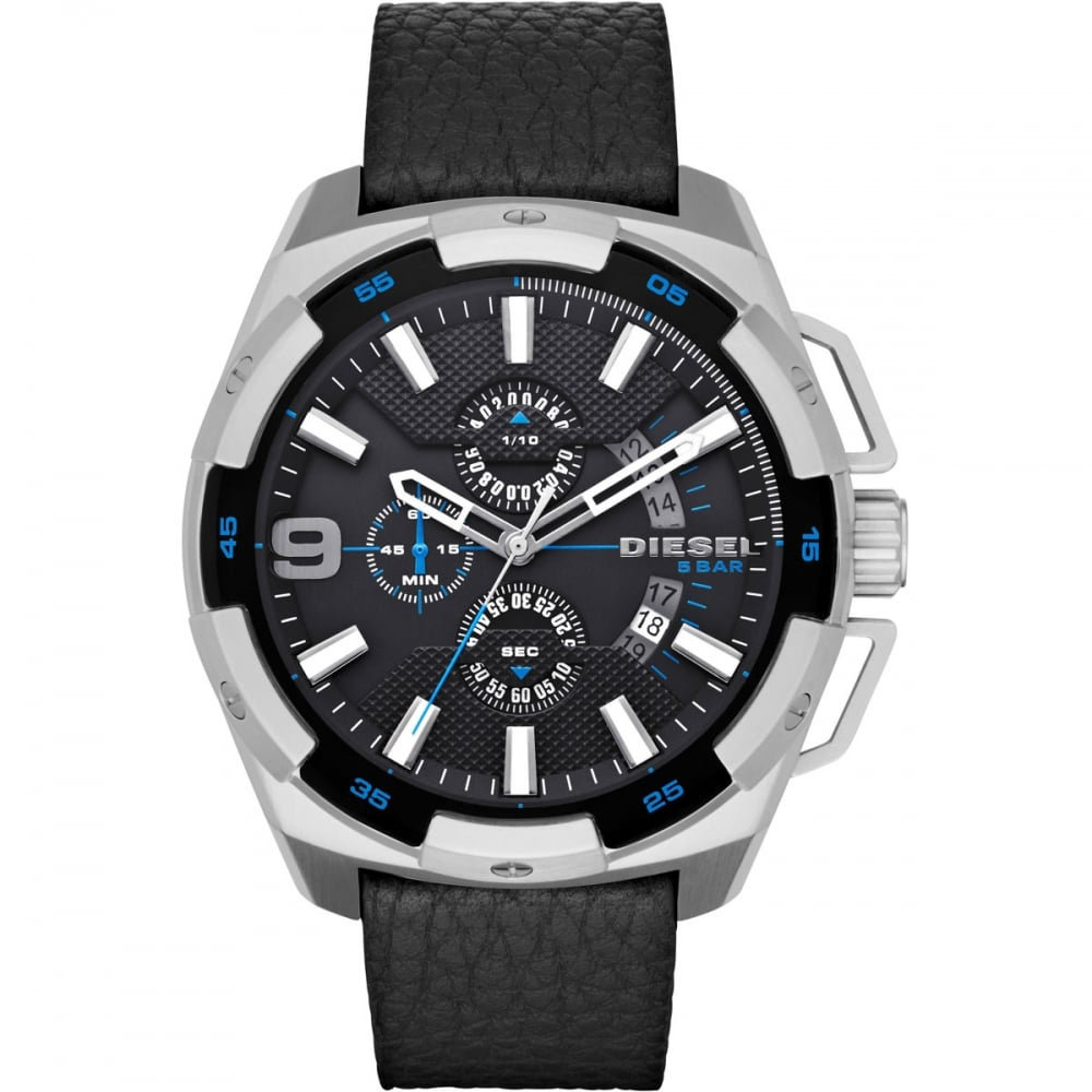 men s diesel dz4392 watch francis gaye jewellers men 039 s black heavy weight chronograph watch