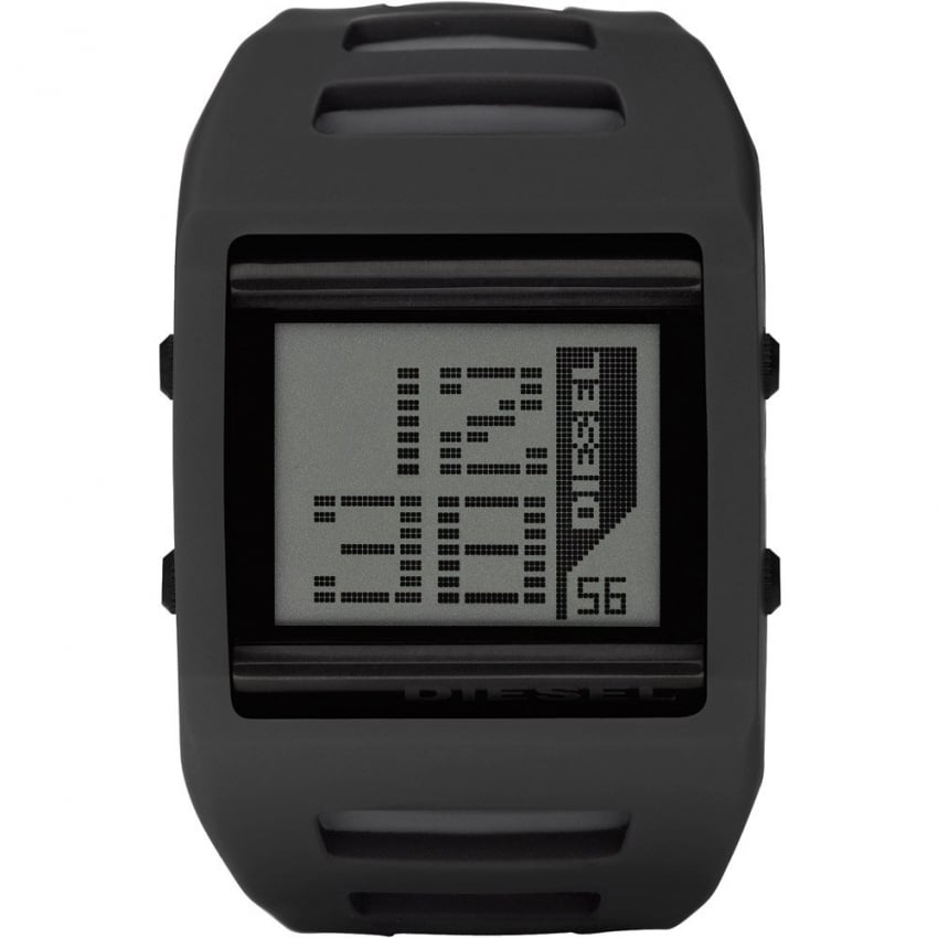 Men's' Black LCD Alarm Watch DZ7225