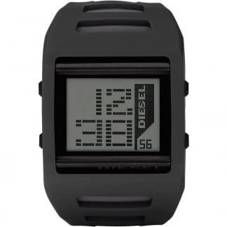 Mens' Black LCD Alarm Watch DZ7225
