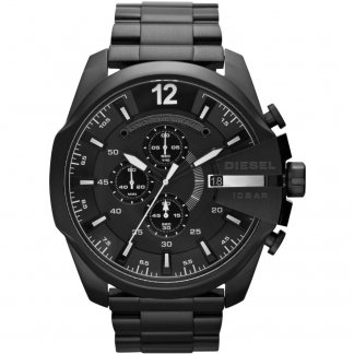 Men's Black Mega Chief Chronograph Watch