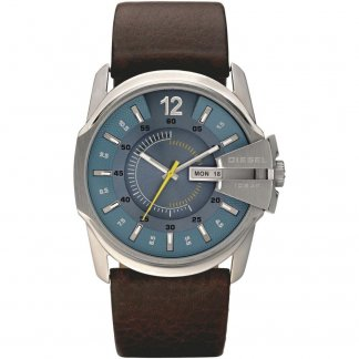 Men's Blue Dial Day & Date Goose Watch