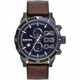 Men's Blue Dial Double Down Chronograph Watch DZ4312