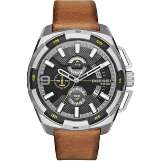 Men's Brown Strap Heavy Weight Chronograph Watch