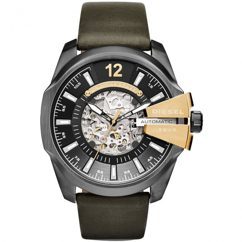 Diesel Men's Chief Series Automatic Green Leather Watch DZ4379