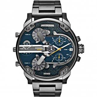 Men's Gunmetal Mr Daddy 2.0 Denim Multi Dial Watch DZ7331