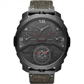 Men's Machinus Distressed Denim Strap Watch