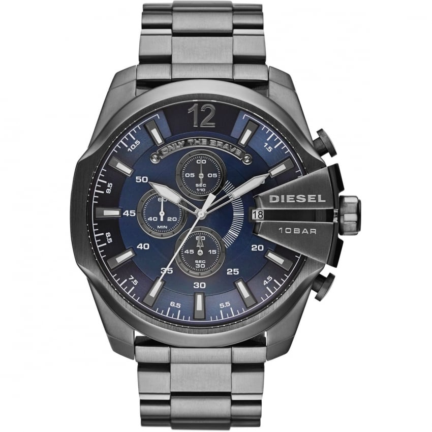 Men's Mega Chef Blue Dial Chronograph Watch DZ4329