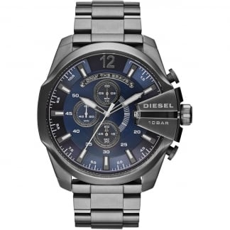 Men's Mega Chef Blue Dial Black PVD Chronograph Watch