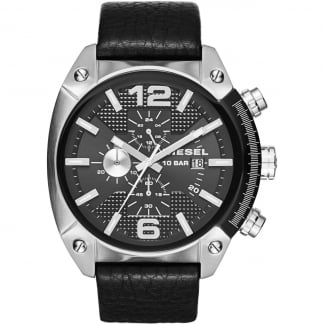 Men's Overflow Leather Chronograph Watch