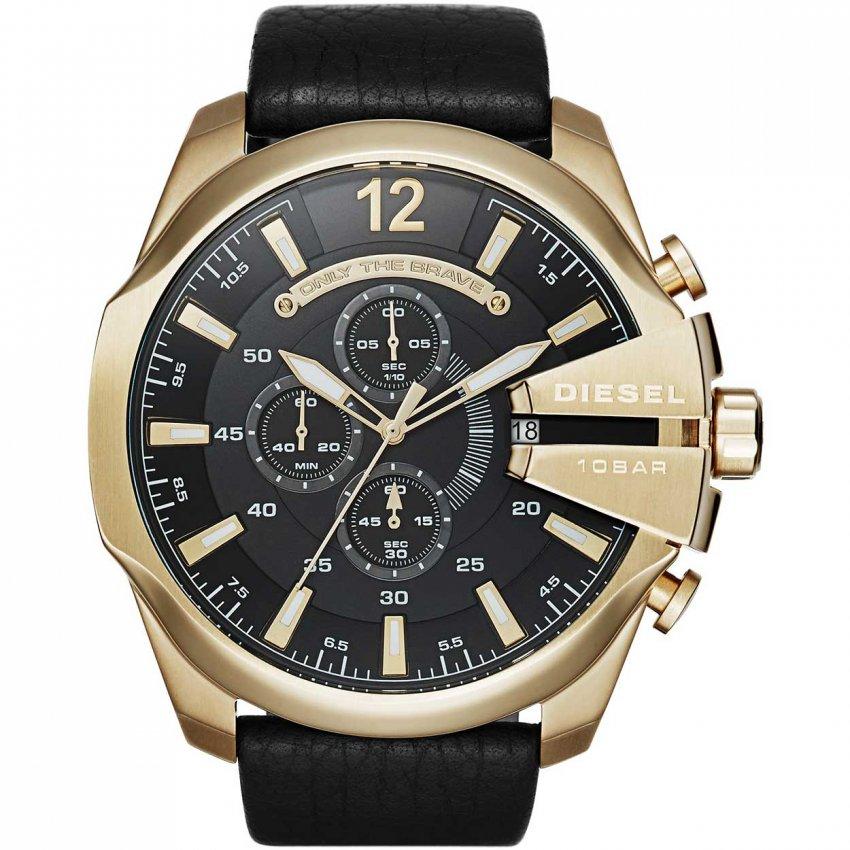 Diesel Men's Oversized Mega Chief Gold Tone Chronograph Watch DZ4344