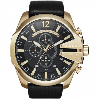 Men's Oversized Mega Chief Gold Tone Chronograph Watch
