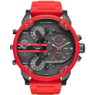Men's Oversized Red Chronograph Daddy Watch DZ7370