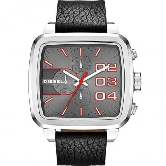 Men's Square Chronograph Double Down Watch