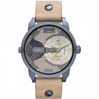 Taupe Leather Mini Daddy Watch DZ7338