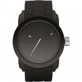 Unisex Black Resin Strap Franchise Watch DZ1437
