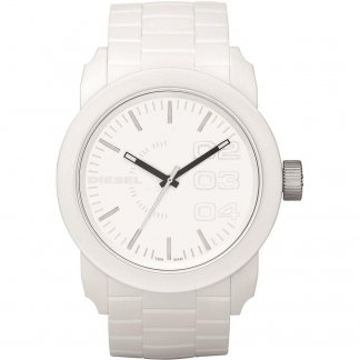 Unisex White Rubber Strap Franchise Watch DZ1436