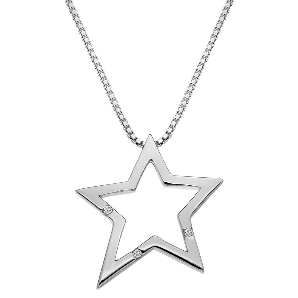 Hot diamonds distinctive silver star pendant jewellery from distinctive silver star pendant aloadofball Choice Image